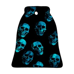 Skulls Blue Bell Ornament (2 Sides)