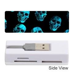 Skulls Blue Memory Card Reader (Stick)