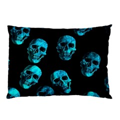 Skulls Blue Pillow Cases (two Sides)