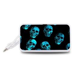 Skulls Blue Portable Speaker (White)