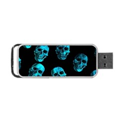 Skulls Blue Portable Usb Flash (two Sides)