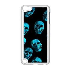 Skulls Blue Apple Ipod Touch 5 Case (white)