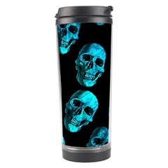 Skulls Blue Travel Tumblers