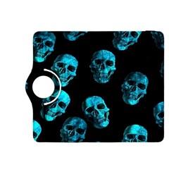 Skulls Blue Kindle Fire Hdx 8 9  Flip 360 Case