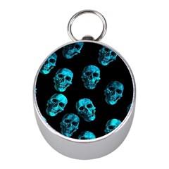 Skulls Blue Mini Silver Compasses