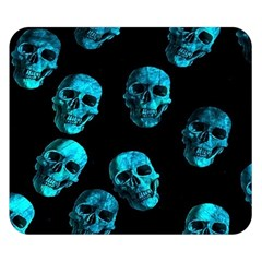 Skulls Blue Double Sided Flano Blanket (Small)