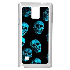 Skulls Blue Samsung Galaxy Note 4 Case (White)