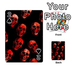 Skulls Red Playing Cards 54 Designs