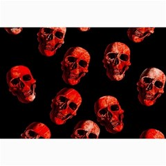 Skulls Red Collage 12  x 18