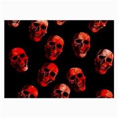 Skulls Red Large Glasses Cloth (2 Side)