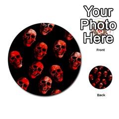 Skulls Red Multi Purpose Cards (round)