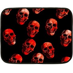 Skulls Red Fleece Blanket (mini)