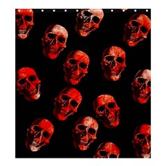 Skulls Red Shower Curtain 66  x 72  (Large)