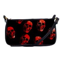 Skulls Red Shoulder Clutch Bags