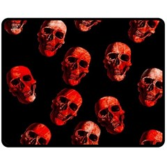 Skulls Red Fleece Blanket (medium)
