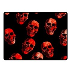 Skulls Red Fleece Blanket (Small)