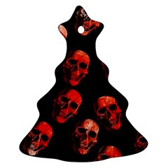 Skulls Red Ornament (Christmas Tree)
