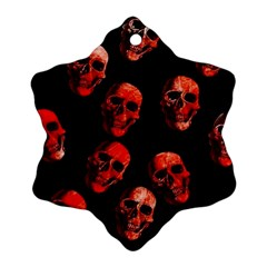 Skulls Red Snowflake Ornament (2-Side)