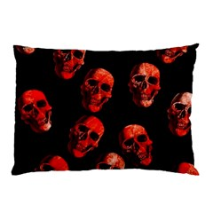 Skulls Red Pillow Cases (Two Sides)