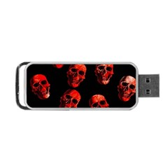 Skulls Red Portable Usb Flash (one Side)