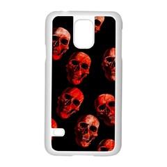 Skulls Red Samsung Galaxy S5 Case (White)