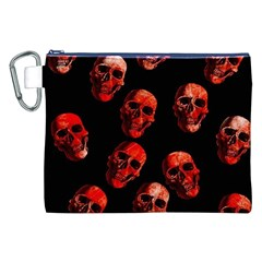 Skulls Red Canvas Cosmetic Bag (XXL)