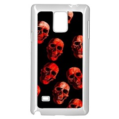 Skulls Red Samsung Galaxy Note 4 Case (white)