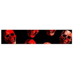 Skulls Red Flano Scarf (small)