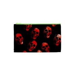 Skulls Red Cosmetic Bag (xs)