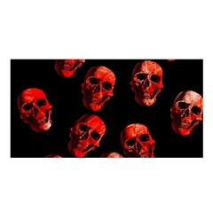 Skulls Red Satin Shawl