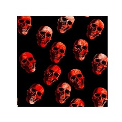 Skulls Red Small Satin Scarf (Square)
