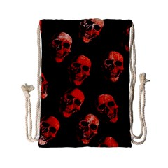Skulls Red Drawstring Bag (Small)