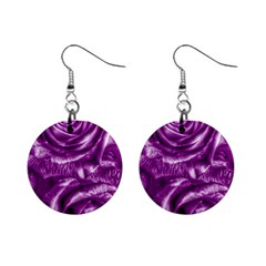 Gorgeous Roses,purple  Mini Button Earrings