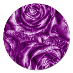 Gorgeous Roses,purple  Magnet 5  (round)