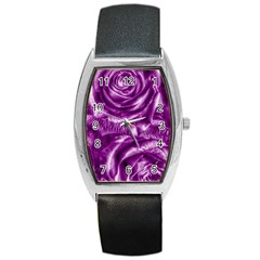 Gorgeous Roses,purple  Barrel Metal Watches