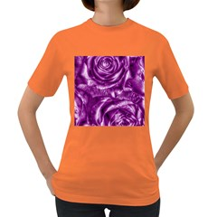 Gorgeous Roses,purple  Women s Dark T-Shirt