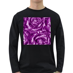 Gorgeous Roses,purple  Long Sleeve Dark T-Shirts