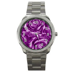 Gorgeous Roses,purple  Sport Metal Watches