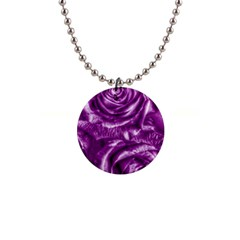 Gorgeous Roses,purple  Button Necklaces