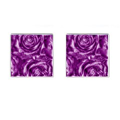 Gorgeous Roses,purple  Cufflinks (square)