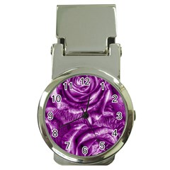Gorgeous Roses,purple  Money Clip Watches