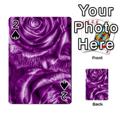 Gorgeous Roses,purple  Playing Cards 54 Designs