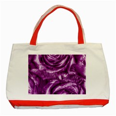 Gorgeous Roses,purple  Classic Tote Bag (Red)