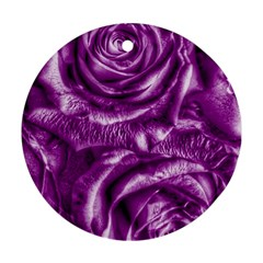 Gorgeous Roses,purple  Round Ornament (Two Sides)