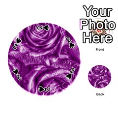 Gorgeous Roses,purple  Playing Cards 54 (round)