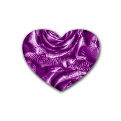 Gorgeous Roses,purple  Rubber Coaster (heart)