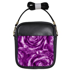 Gorgeous Roses,purple  Girls Sling Bags