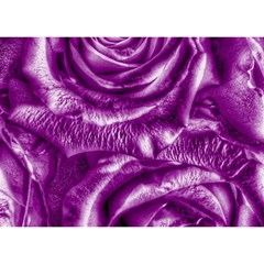 Gorgeous Roses,purple  Birthday Cake 3D Greeting Card (7x5)