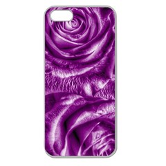 Gorgeous Roses,purple  Apple Seamless iPhone 5 Case (Clear)