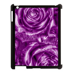 Gorgeous Roses,purple  Apple iPad 3/4 Case (Black)